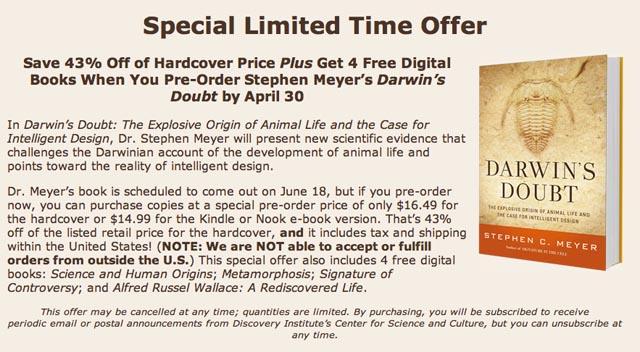 Darwin's Doubt offer